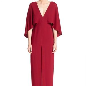 Halston Heritage red gown